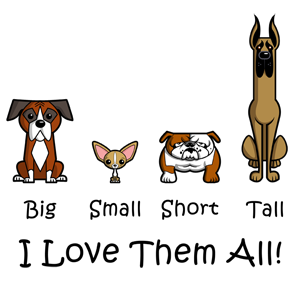Big Small Short Tall – I Love Them All!